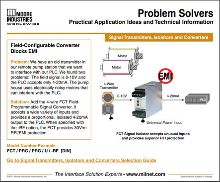 Field Configurable Converter Blocks RFI Problem Solvers Moore Industrie