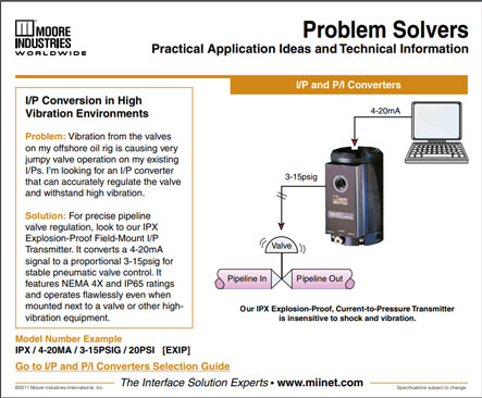 IP Conversion in High Vibration Environments Problem Solvers Moore Industries