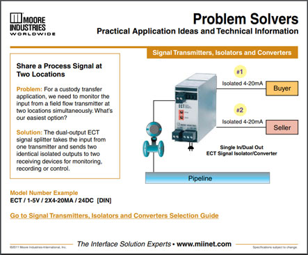 Share a Process Signal at Two Locations Problem Solvers Moore Industries