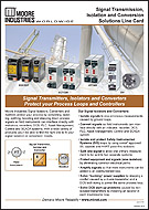 Signal Transmission Isolation and Conversion Solutions Line Card Moore Industries Cover
