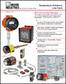 Temperature Solutions Line Card Moore Industries Cover