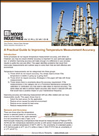 A Practical Guide to Improving Temperature Measurement Accuracy White Paper Moore Industries Cover