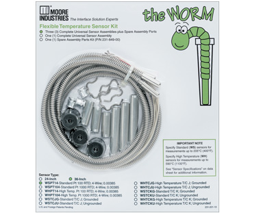 The Worm Flexible Temperature Sensor| Moore Industries