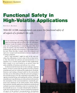Functional Safety in High-Volatile Applications