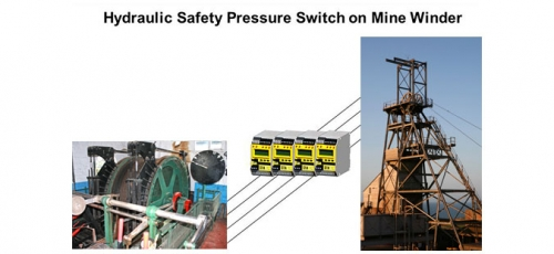 Hydraulic Safety Pressure Switch on Mine Winder