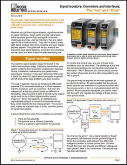 Updated Signal Isolators, Converters and Interfaces White Paper on the Website