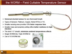 the WORM – Field Cuttable Temperature Sensor