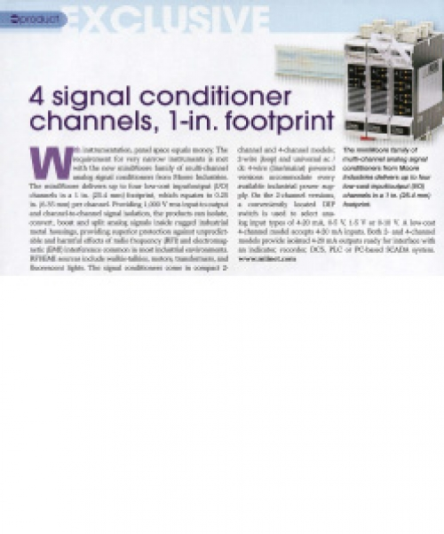 4 Signal Conditioner Channels, 1-In. Footprint