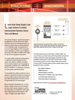 Using Single Loop Logic Solvers in Safety Instrumented Systems Saves Time and Money