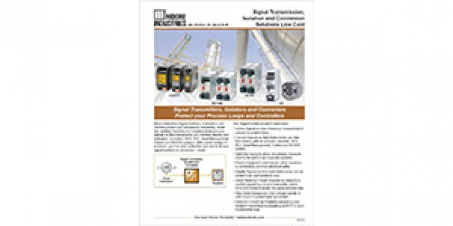 The New Signal Transmission, Isolation and Conversion Solutions Line Card is On the Website