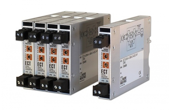 Rugged ECT DIN Signal Isolator/Converter  Reduces Installation Footprint with Thin 15mm Housing